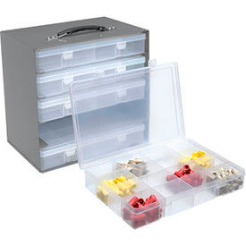 Steel Compartment Box Racks with Plastic Compartment Boxes