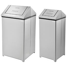 Global Industrial™ Stainless Steel Swing Top Trash Cans