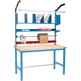 Global Industrial™ Pre-Configured Packing Workbench with Riser