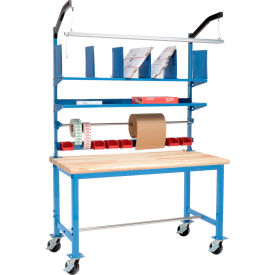 Global Industrial™ Pre-Configured Mobile Packing Workbench with Riser