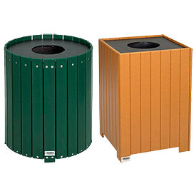 Global Industrial™ Recycled Plastic Receptacles