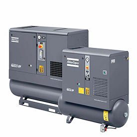 1-Phase Tank Mounted Rotary Screw Air Compressors