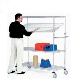 Nexel® E-Z Adjust Chrome Wire Shelf Trucks