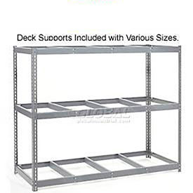 Made in USA - 7'H Boltless Wide Span Metal Storage Rack Without Decking