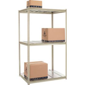 7'H High Capacity (Z-Beam) Boltless Metal Rack With Steel Deck - Made in USA