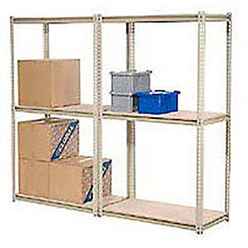 Made in USA - 7'H High Capacity (Z-Beam) Boltless Metal Rack With Wire Deck