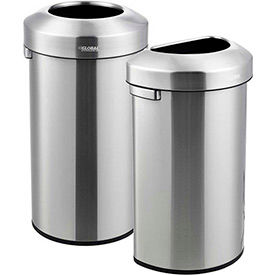 Global Industrial™ Stainless Steel Open Top Trash Cans