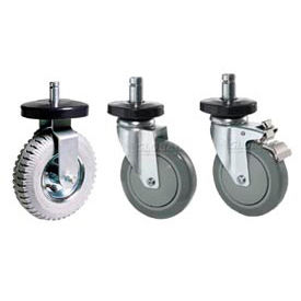 Swivel & Rigid Stem Casters For Wire Shelving