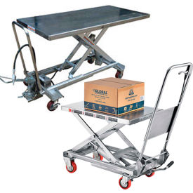Stainless Steel Mobile Scissor Lift Tables