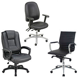 Interion® Leather Office Chairs