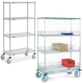 Nexel® NSF Adjustable Chrome Wire Shelf Trucks