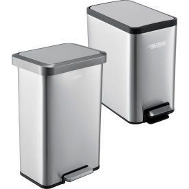 Global Industrial™ Stainless Steel Step Trash Cans