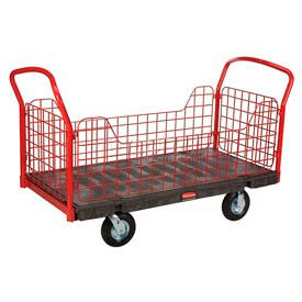 Rubbermaid® Side Panel Plastic Platform Truck