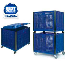 Easy Assembly Bulk Containers - Solid Or Vented Sides