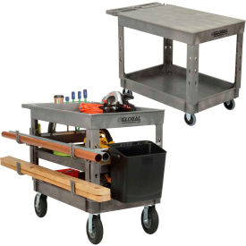 Global Industrial™ Plastic Tray Shelf Service - Chariots utilitaires