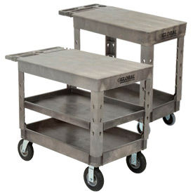 Global Industrial™ Plastic Flat Shelf Service - Chariots utilitaires
