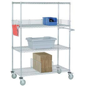 Nexel® Stainless Steel Wire Shelf Trucks
