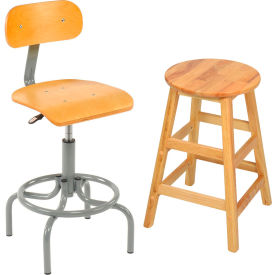 Interion® Wooden Stools
