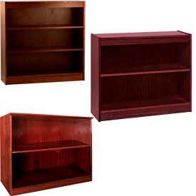 Bibliothèques de placage en bois - hauteur de bureau, montage facile