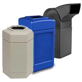 Contemporary Design Indoor/Outdoor Waste Receptacle