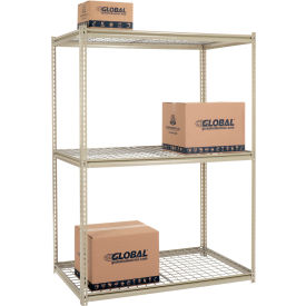 7'H High Capacity (Z-Beam) Boltless Metal Rack With Wire Deck