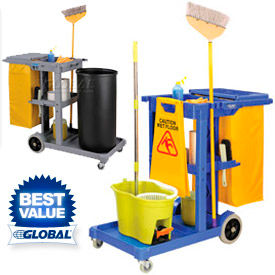 Global™ Janitorial chariots