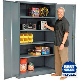 Global™ Industrial Grade Full Height Storage Cabinets