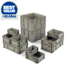 Global Industrial™ Stackable Straight Wall Containers