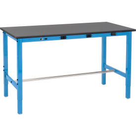 Global Industrial™ Heavy Duty Lab Workbenches Adjustable Height with Power Apron