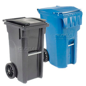Global Industrial™ Heavy Duty Mobile Trash Containers