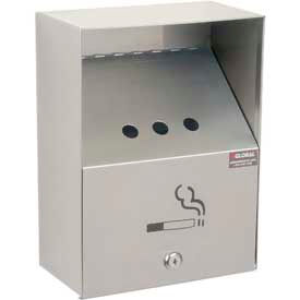 Global Industrial™ Stainless Steel Wall Mount Outdoor Ashtray