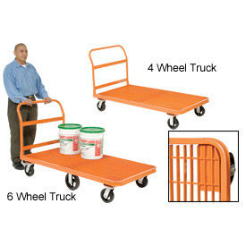 Global Industrial™ Steel Grating Deck Depot Platform Trucks