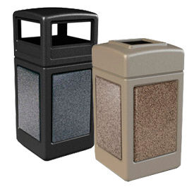 StoneTec® Stone Panel Waste Receptacles