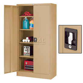 Full Height Storage Cabinet With Recessed Handle
