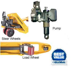 Replacement Parts for Global Industrial™ Pallet Jack Trucks