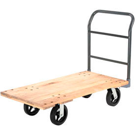 Global Industrial™ Hardwood Deck Platform Trucks
