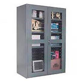 Durham 14 Gauge Heavy Duty Ventilated Door Cabinet - 700 Thru 900 LB. Shelf Capacity