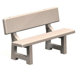 Concrete Benches with Back