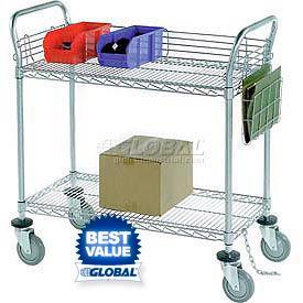 Nexel® Chrome Wire Service & Utility Carts