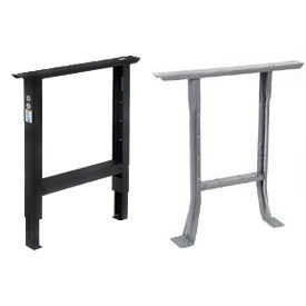 Global Industrial™ Workbench C-Channel Open Legs with Outlet Knockouts