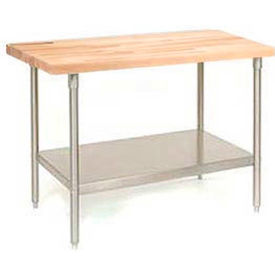 Maple Top Stainless Steel Work Benches