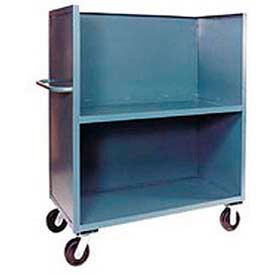 3-Sided Steel Shelf Trucks with Solid Panels