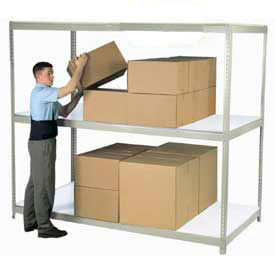 8'H Boltless Wide Span Metal Storage Rack With Laminate Deck