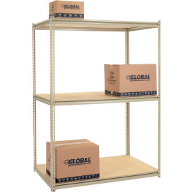 8'H High Capacity (Z-Beam) Boltless Metal Rack With Wood Deck