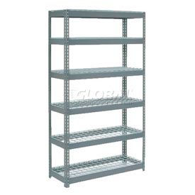 6' High Boltless Steel Shelving With Wire Deck