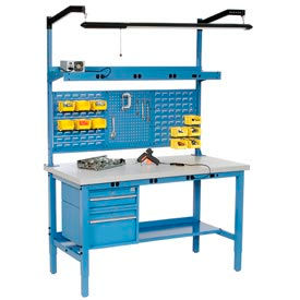 Global Industrial™ Heavy Duty Electric Production Benches - Blue