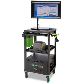 Mobile Battery-Powered Warehouse Computer Workstations