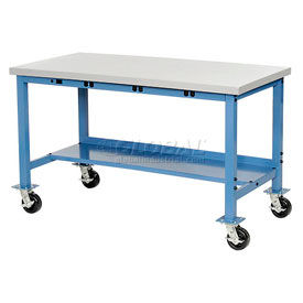 Global Industrial™ Mobile Heavy Duty Electric Production Bench - Blue