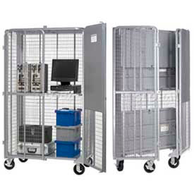 Global Industrial™ Folding Security Storage Trucks