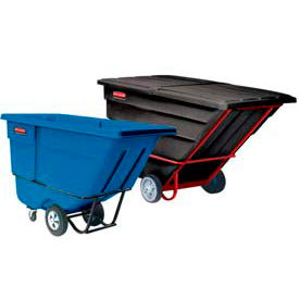 Rubbermaid® Plastic Tilt Trucks - up to 1 Cu. Yd. Capacity